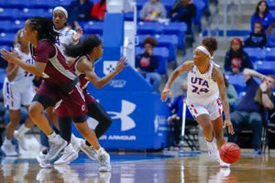 Photos: Lady Mavericks triumph over University of Arkansas at Little Rock Trojans 65-58