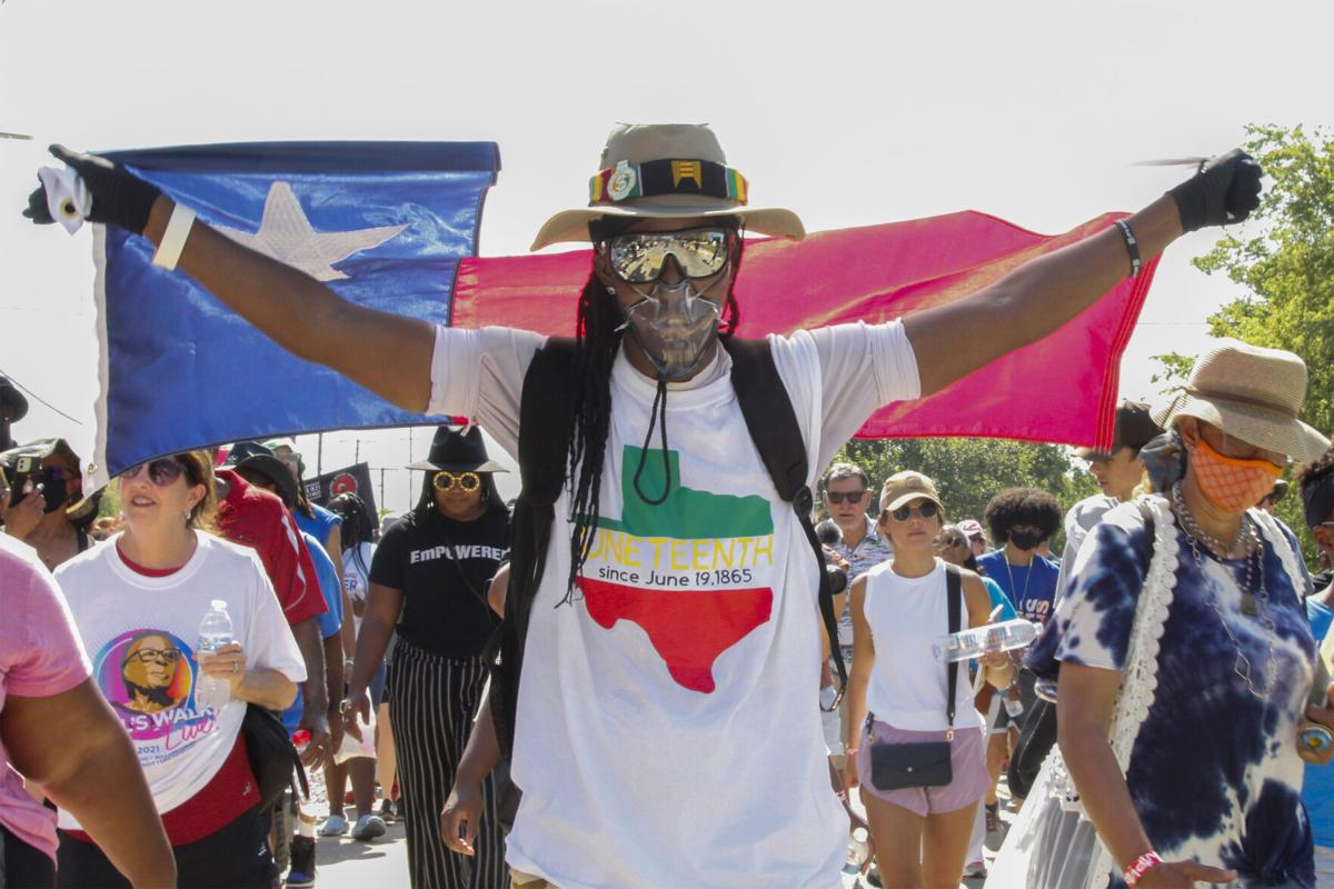 Photos: Opal Lee marches alongside hundreds to celebrate Juneteenth becoming a national holiday