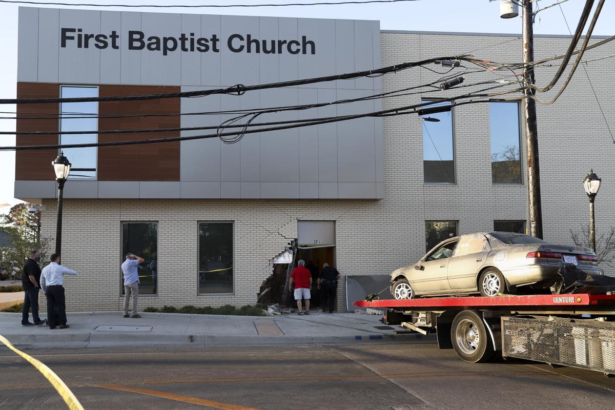 Man drives stolen vehicle into First Baptist Church Arlington near campus
