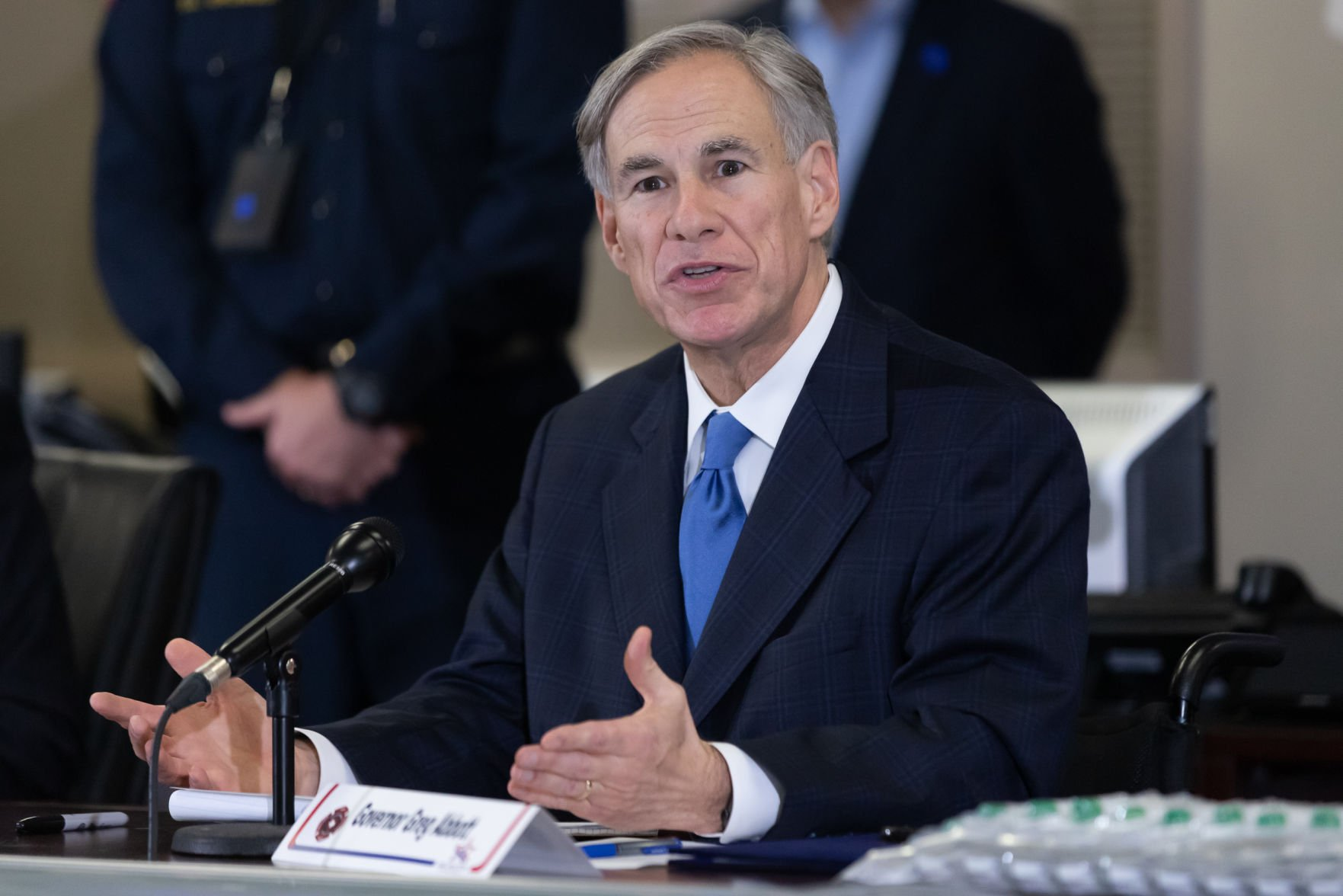 Gov. Greg Abbott announces the arrival of about 2,500 COVID-19 test kits in Arlington