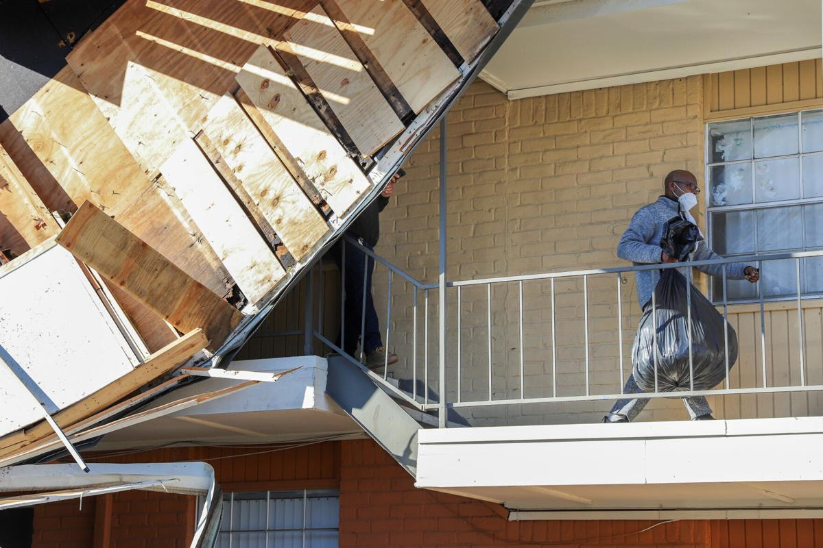Photos: EF2 tornado in Arlington leaves roof damage, collapsed buildings in its wake