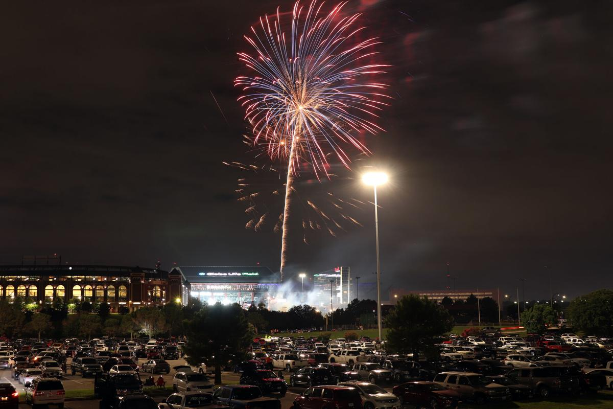 Arlington's Independence Day Fireworks illuminate the Entertainment District for the second year
