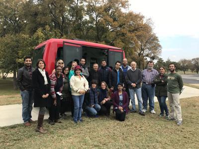 UTA students ride Milo, EasyMile shuttles for field trip