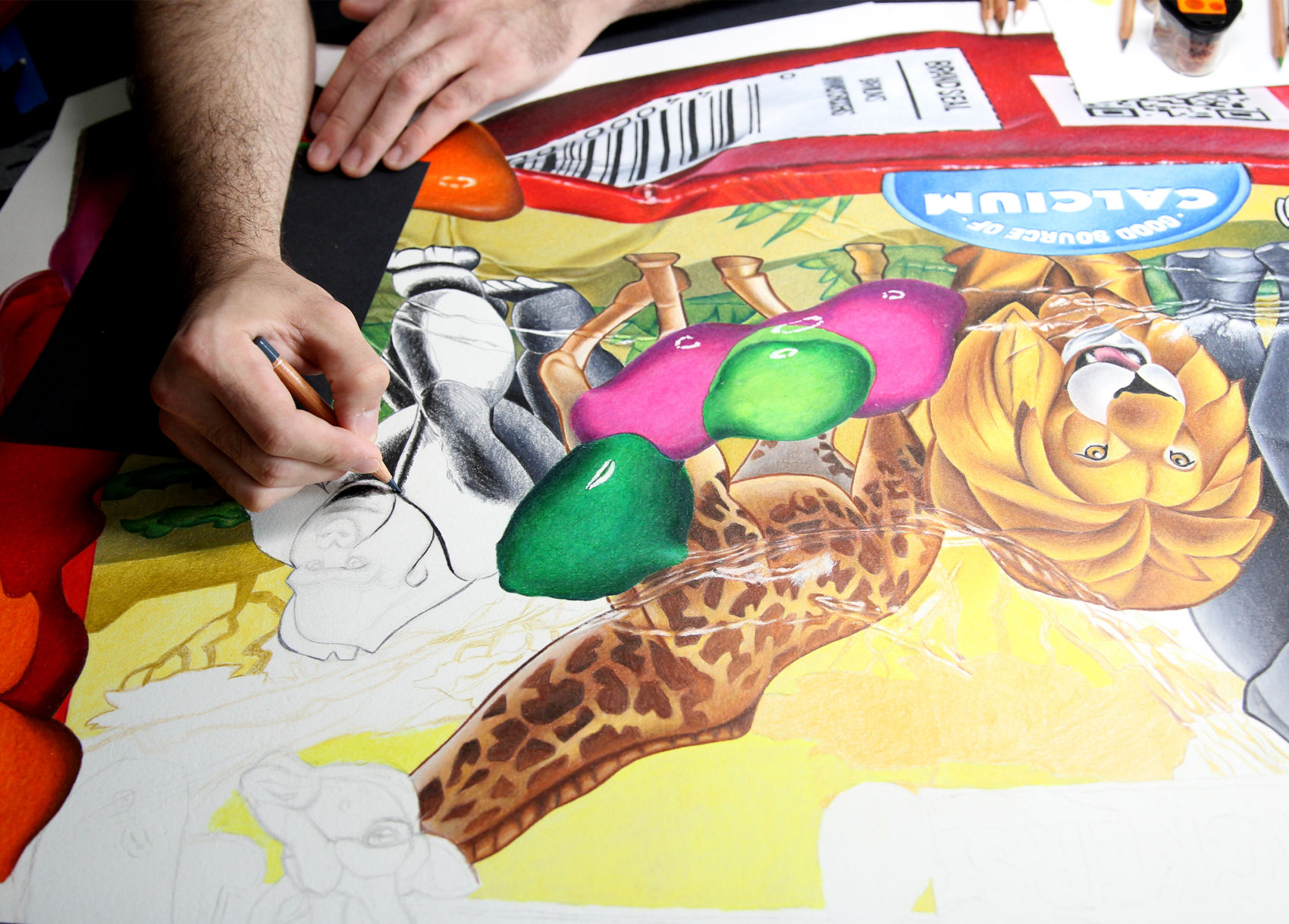 Student shares a piece of himself through color