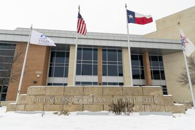 Photos: UTA community spends snow day on campus