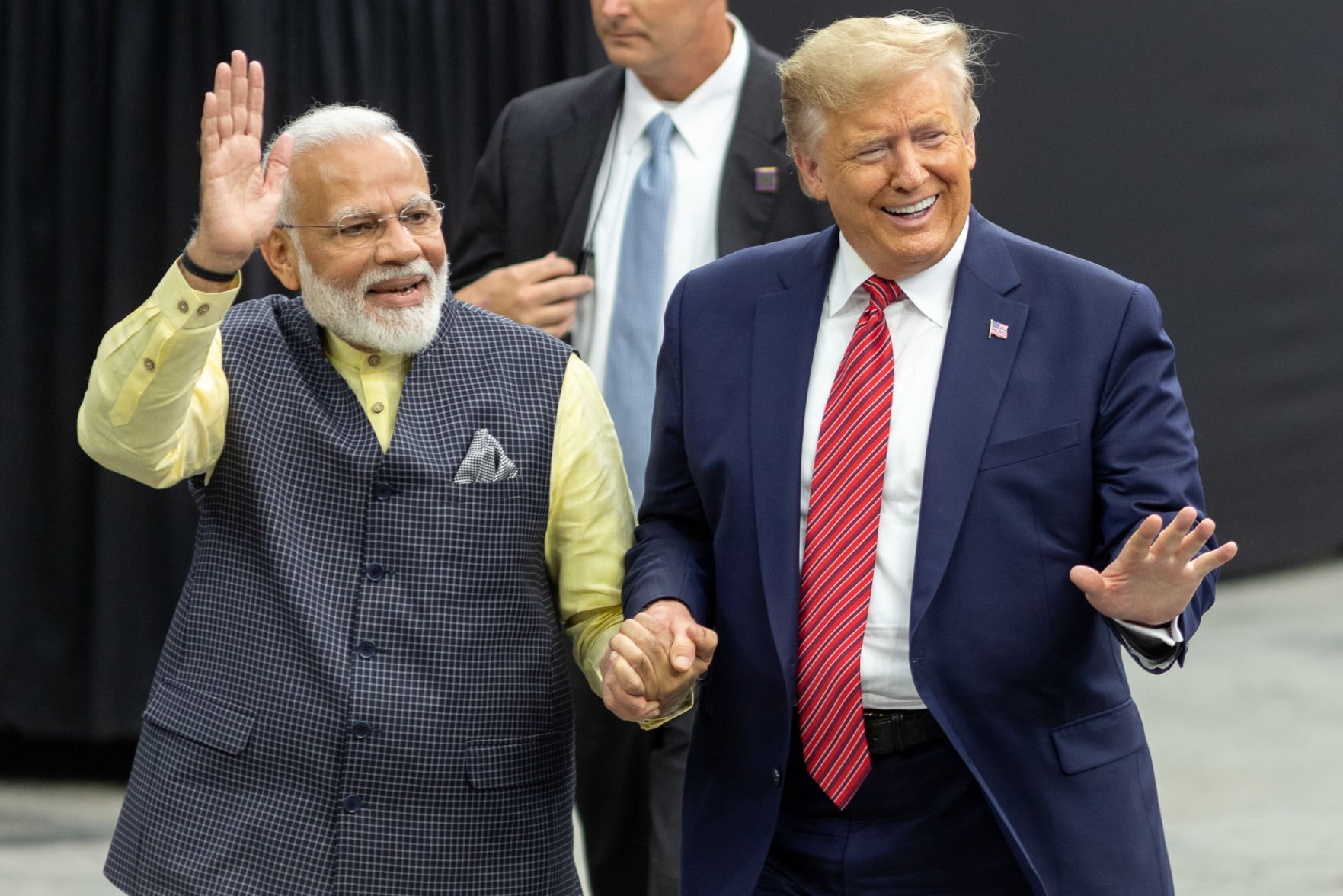 Photos: President Donald Trump, Indian Prime Minister Narendra Modi meet at Howdy Modi Community Summit