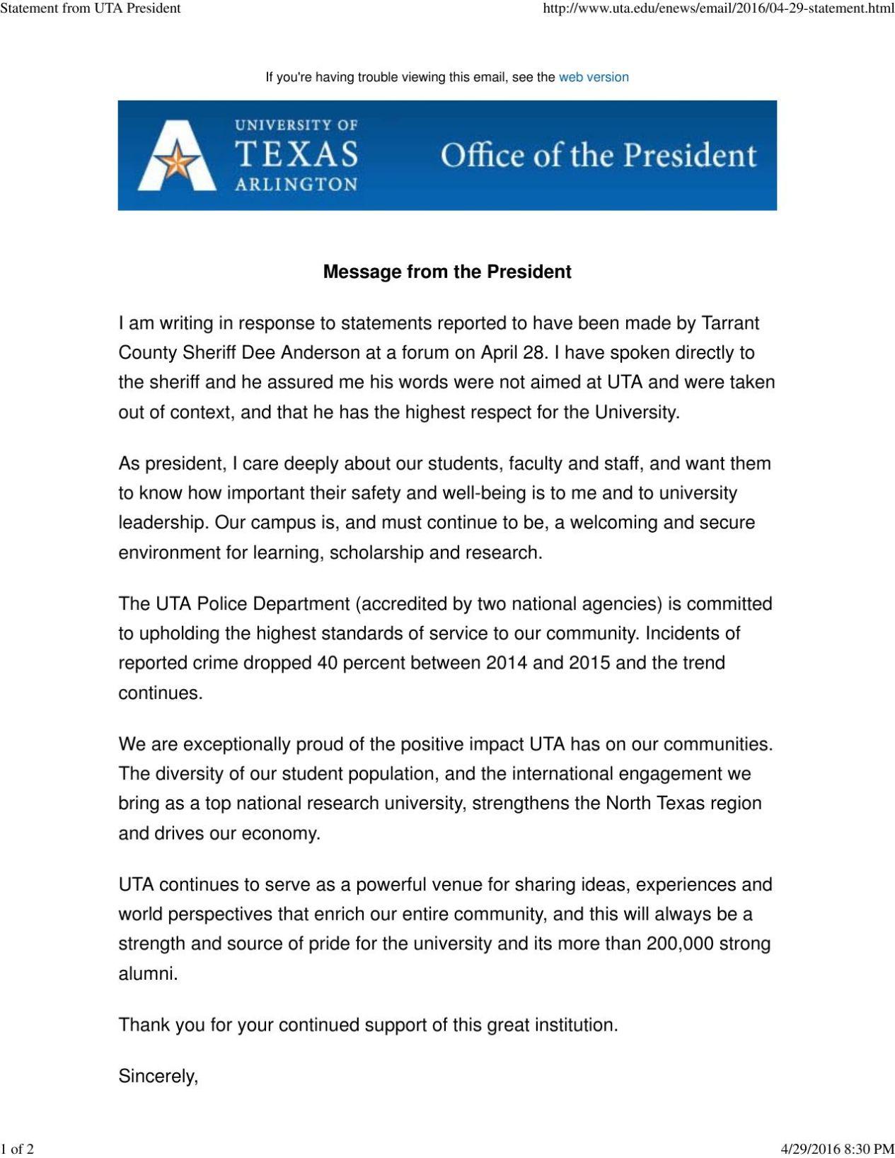 Sheriff ties terrorism to Arlington, UTA during forum | News ...
