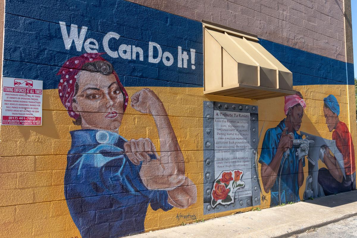 Local Girl Scouts collaborate on Arlington Rosie the Riveter memorial rose garden and mural