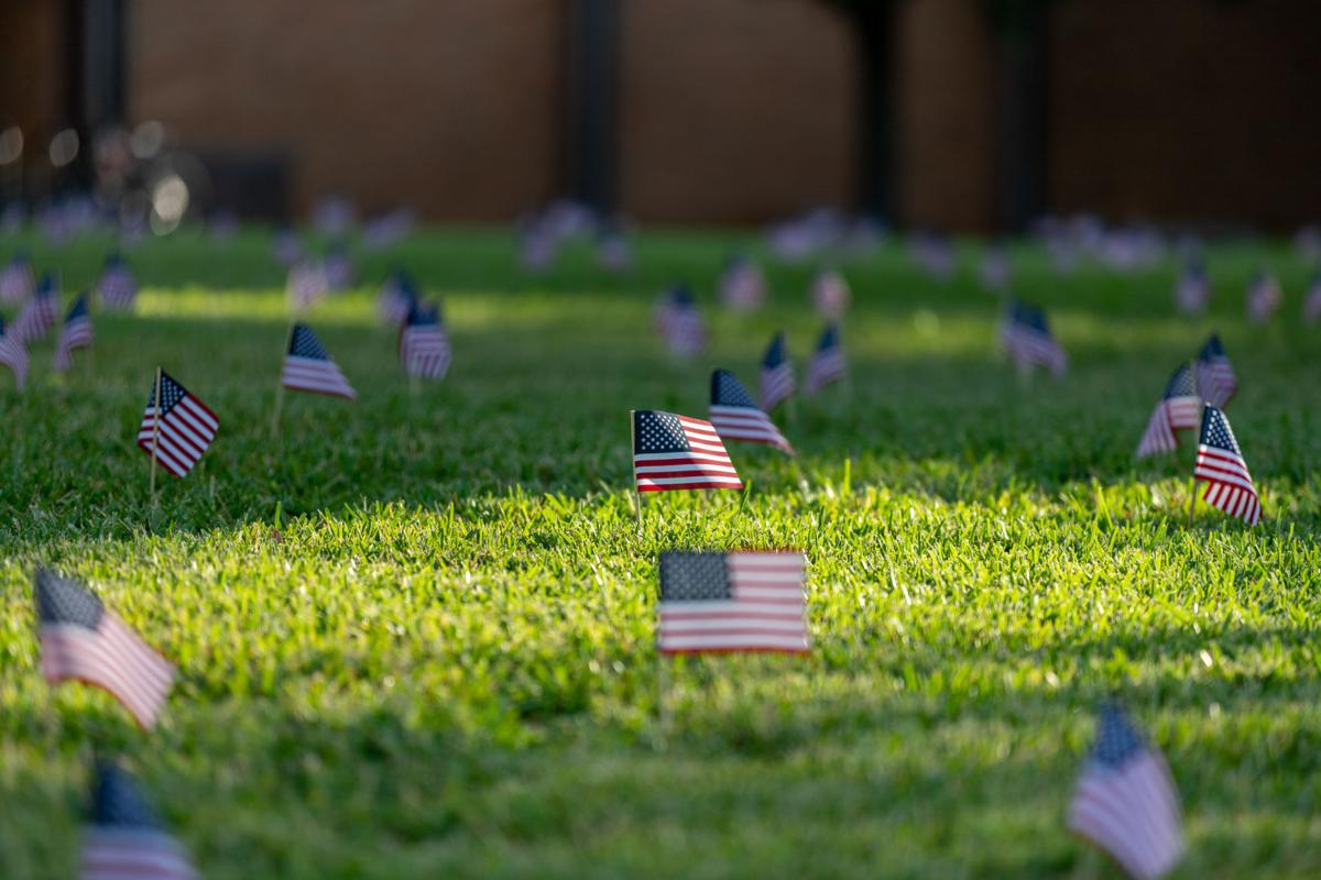 Student organization places 2,977 flags to memorialize the lives lost during 9/11 attacks