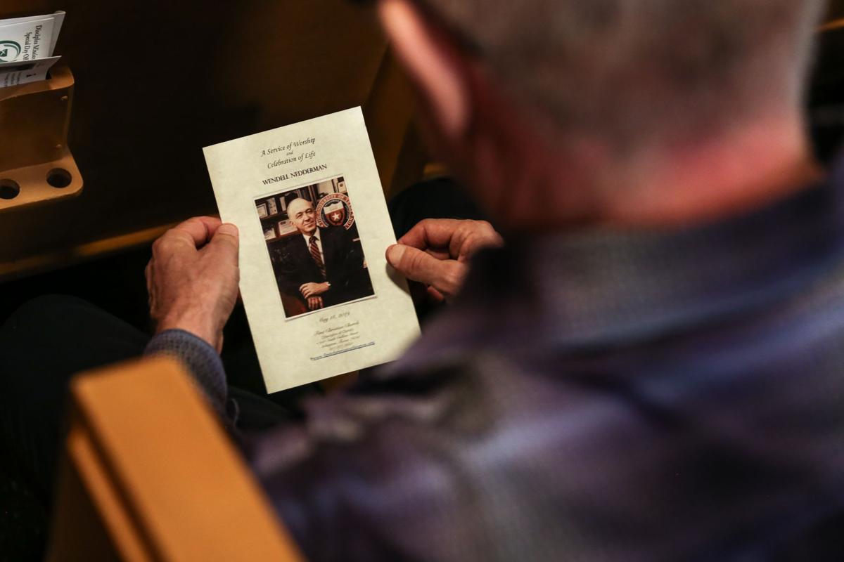 Photos: Community gathers to mourn former UTA President Wendell Nedderman