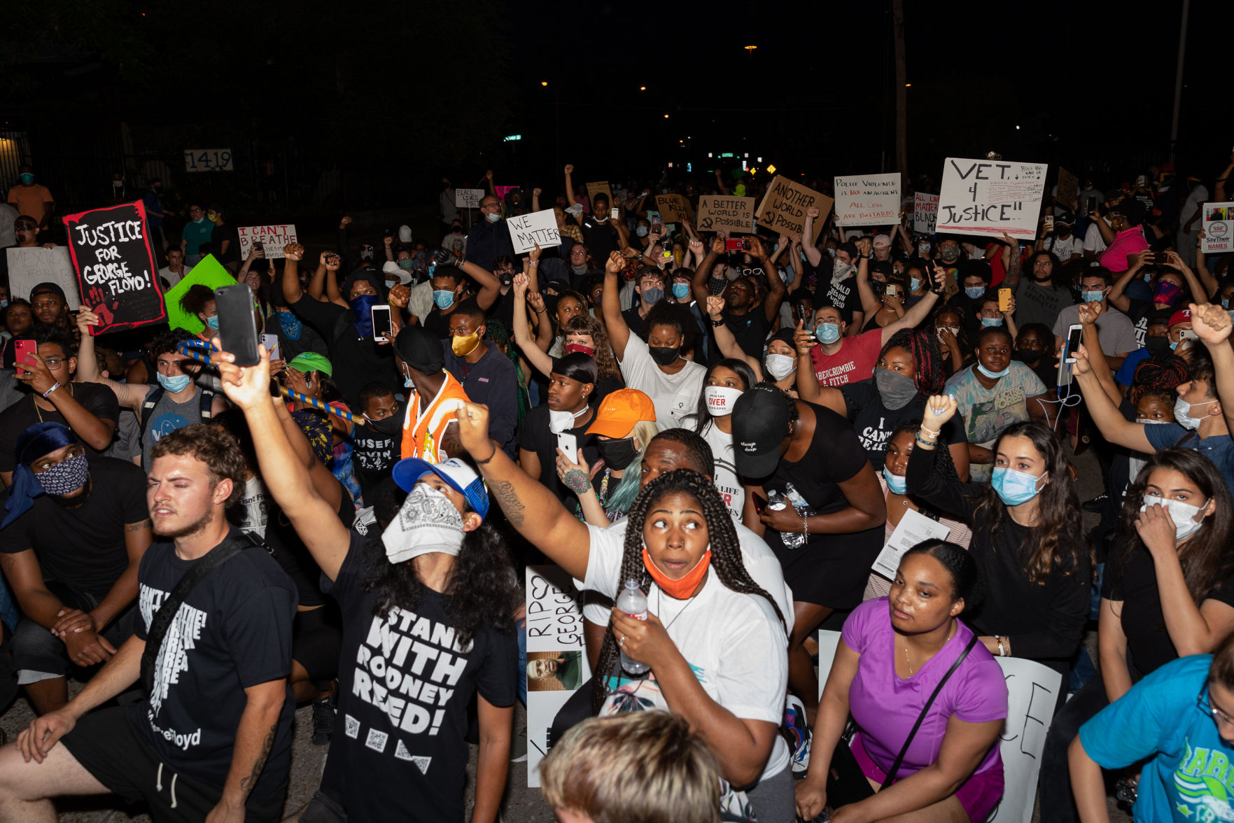 Photos: Protesters march in downtown Dallas demanding justice for black victims of police brutality