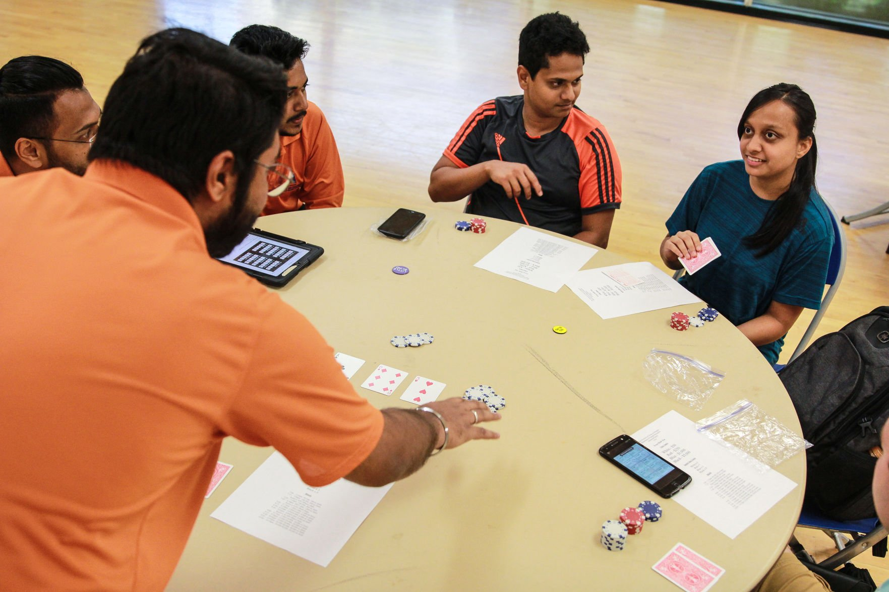 Students compete in intramural poker tournament
