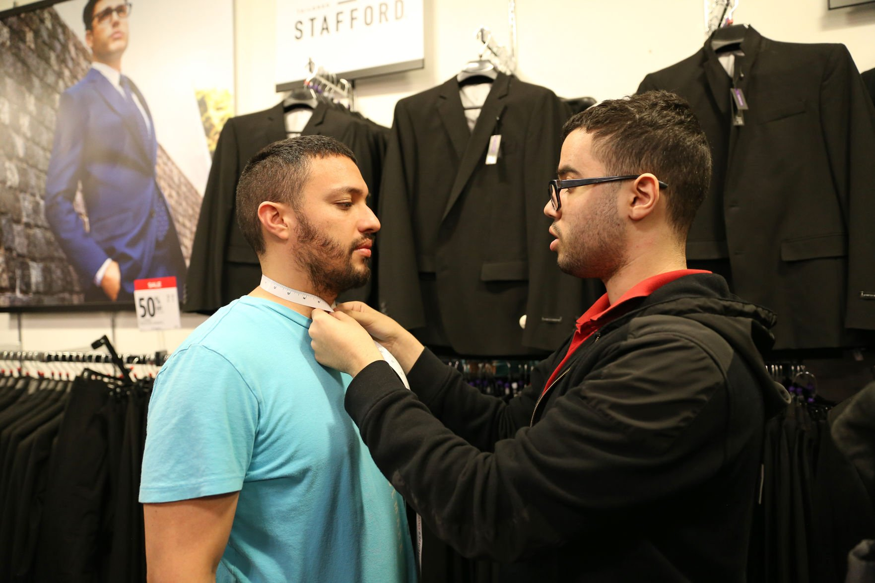 Students suit up for the JCPenney Suit-Up Event