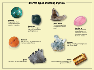 Healing crystals: Positive energy, good vibrations