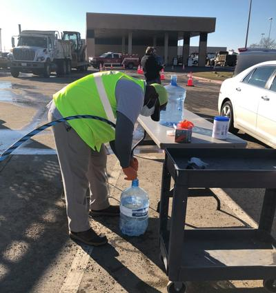 Arlington Water Utilities offers drive-thru water filling stations to residents without water