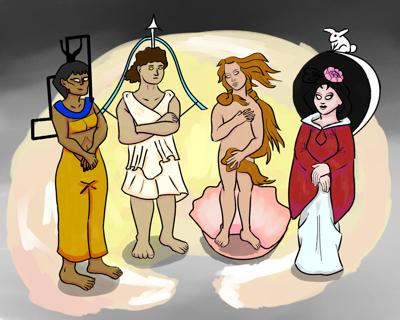 UTA students discuss their favorite goddesses in honor of Women's History Month