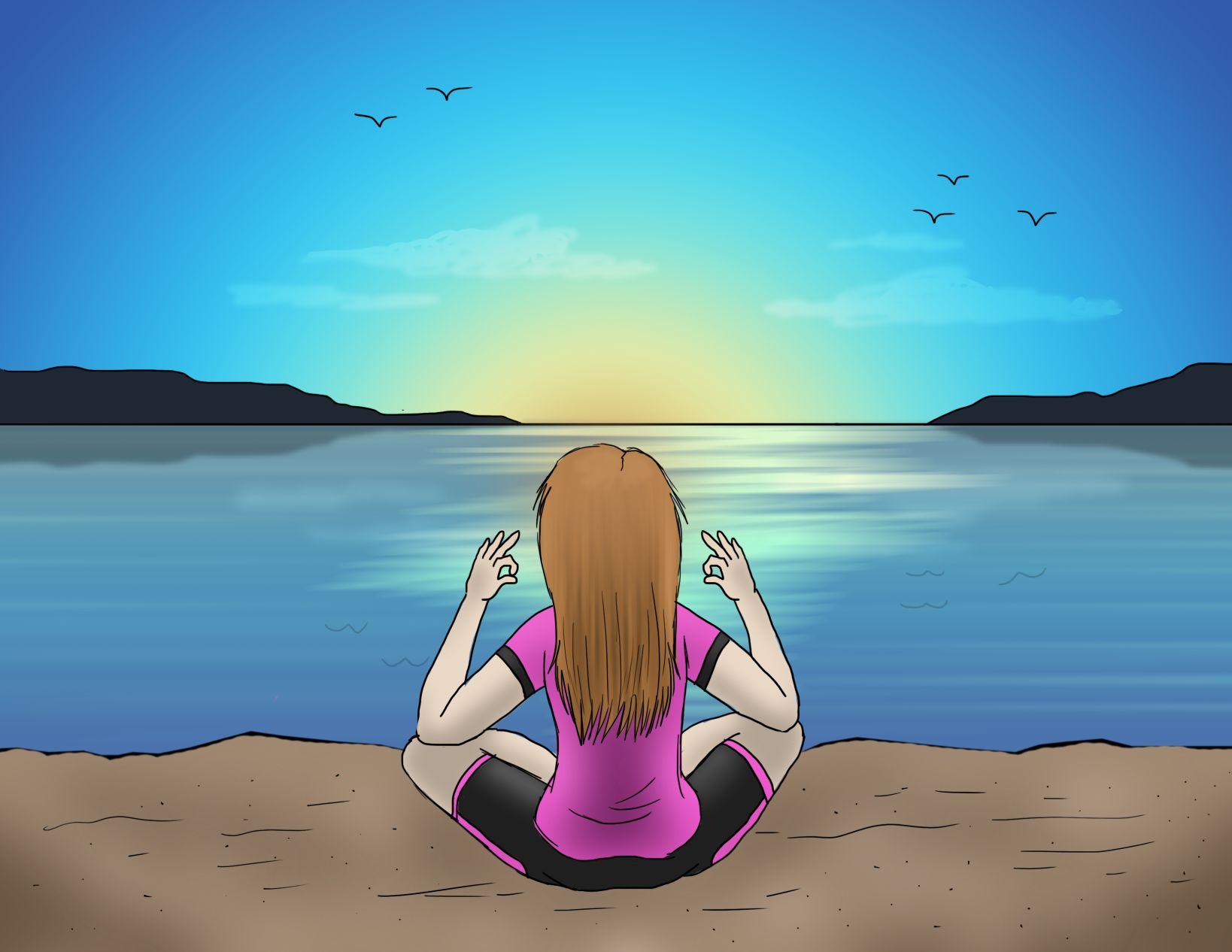 Steps for utilizing meditation and positive psychology
