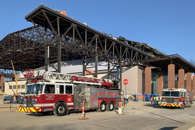 Arlington Fire Department responds to two-alarm fire at Globe Life Field