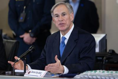 Gov. Greg Abbott announces the arrival of about 2,500 COVID-19 test kits in Arlington (copy)