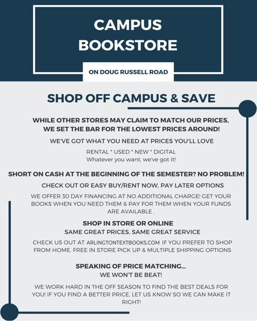 UTA Campus Bookstore | Ads | theshorthorn com