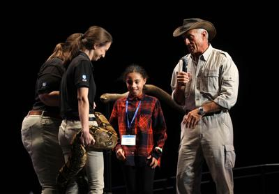 Jack Hanna showcases a menagerie of animals for Maverick Speakers Series