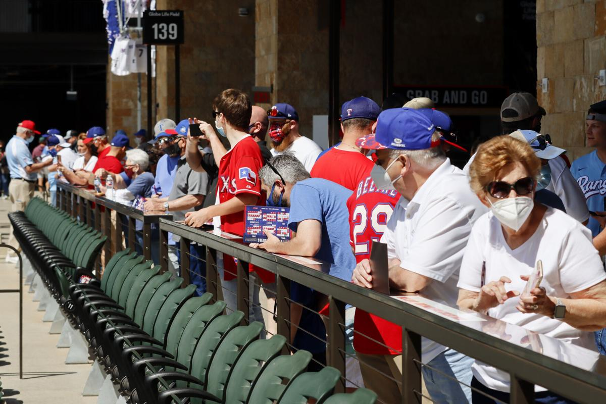 Photos: Texas Rangers play in front of fans at Globe Life Field for the first time