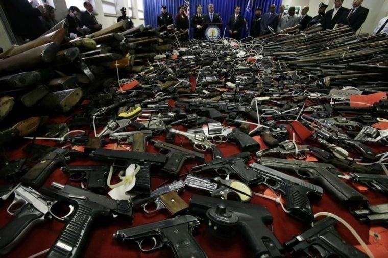 A whole lot of guns