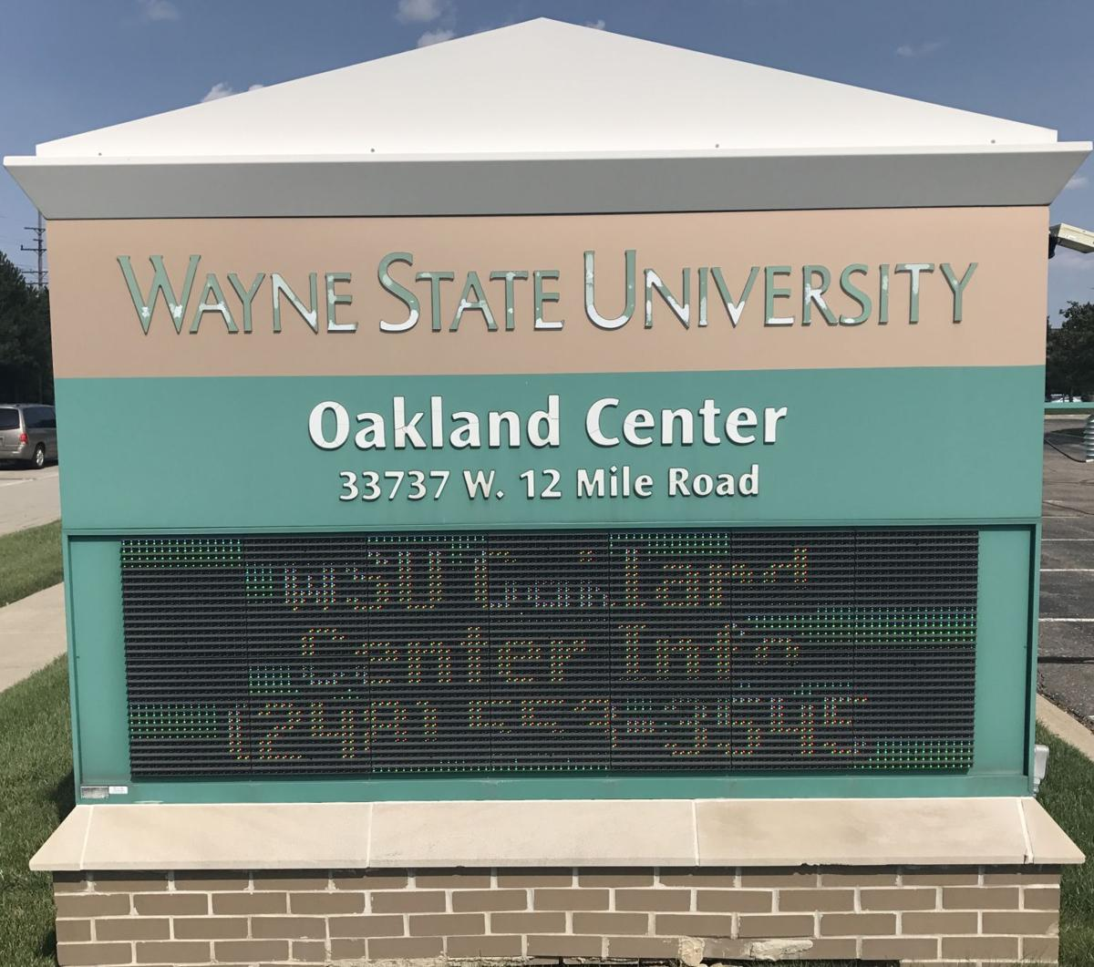 """""""We will still be in Oakland county, but we won't have what I call a free-standing Oakland Center."""""""