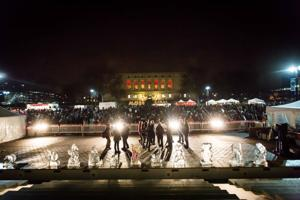 """Army Band on Woodward Ave.  """"There is no better way to celebrate the holiday season than with thousands of metro Detroiter's singing Christmas carols in this time-honored Noel Night tradition."""""""