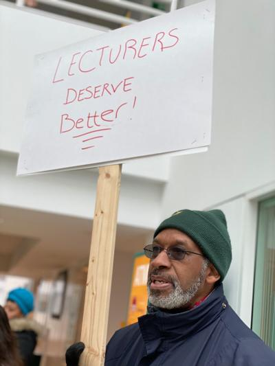 WSU lecturers rally February 2020