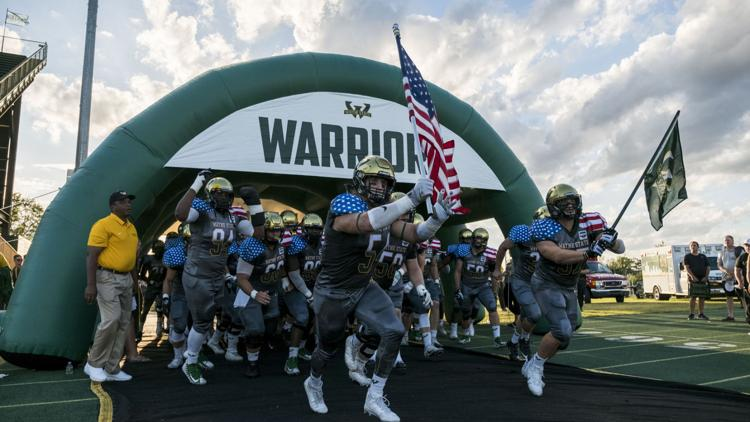 Warrior football vs Grand Valley State