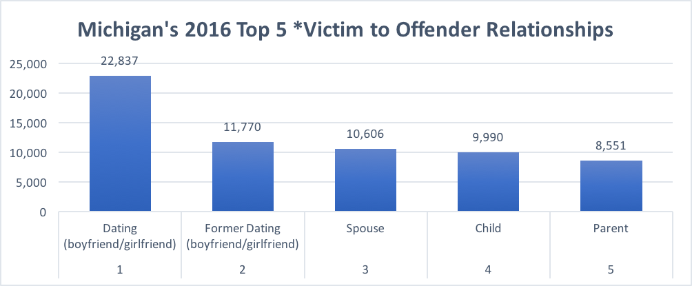 Findings gathered from the Michigan State Police 2016 Crime Date and Statistics report show that Wayne County had the highest number of reported domestic violence victims in the state of Michigan last year totaling 27,574.