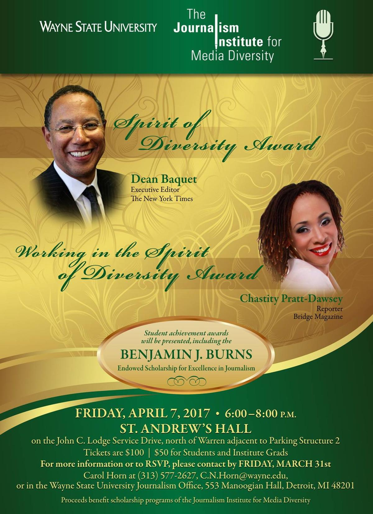 Annual Spirit of Diversity will be held on April 7.