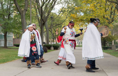 Unity under colors of peace & dignity: Native American Student Organization holds 6th annual Peace and Dignity Ceremony