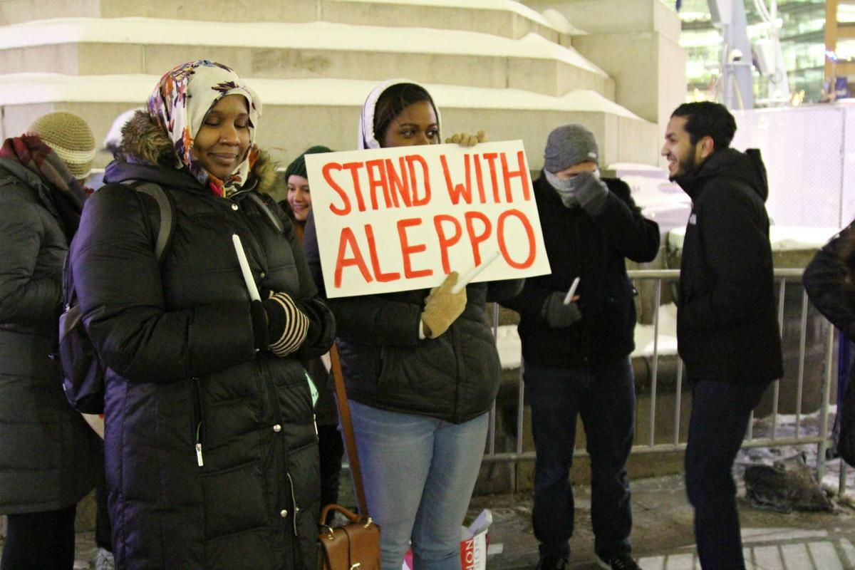 """""""We organized this emergency vigil tonight in solidarity with Syrians, because we cannot allow their legacies and fight for freedom to be forgotten."""""""