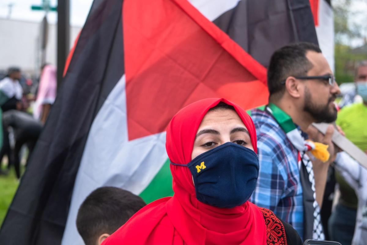 Mariam Odeh at March for Jerusalem