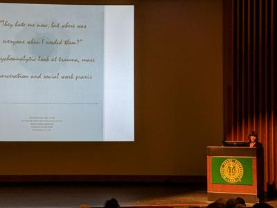 Annual Edith Harris lecture highlights trauma of mass incarceration, role of social work