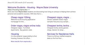 WSU falls victim to Viagra ad scam