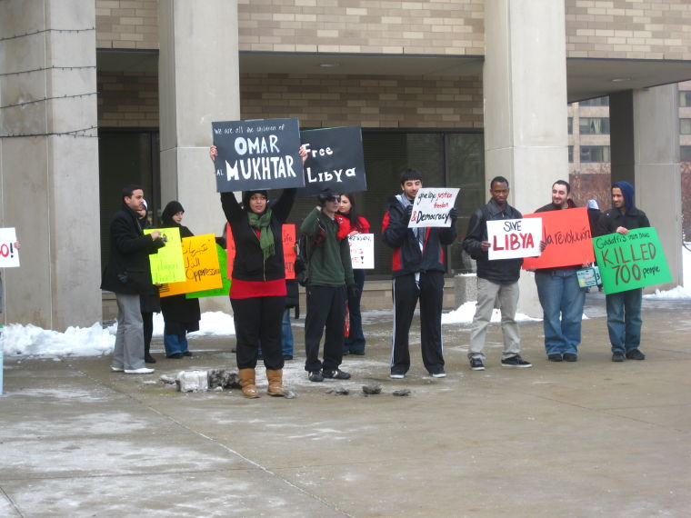 WSU Demonstration in Solidarity With Libya and Other Mid-East Countries
