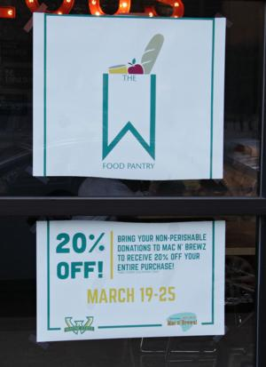The W food pantry to open April 2.
