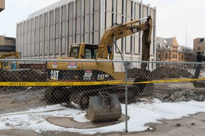Gullen Mall partially closed for STEM Center construction