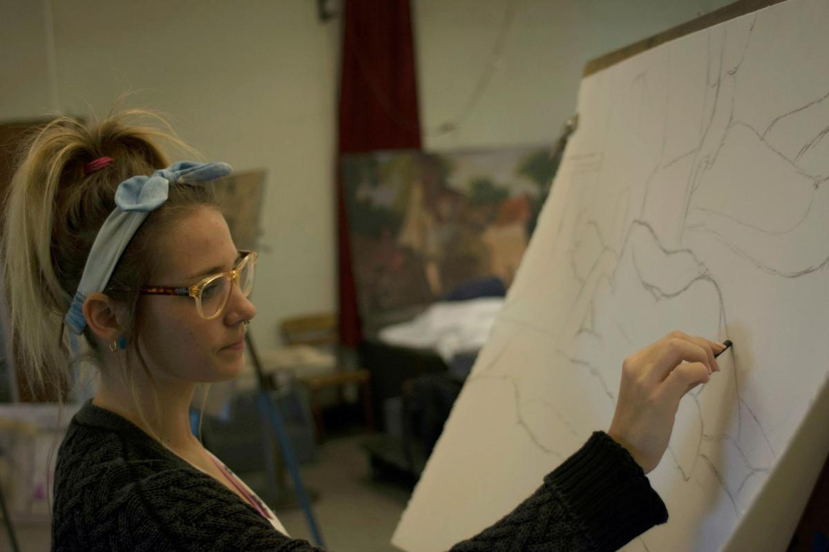 """The art programs are designed around the art therapy curriculum rather than learning technical art skills,"""