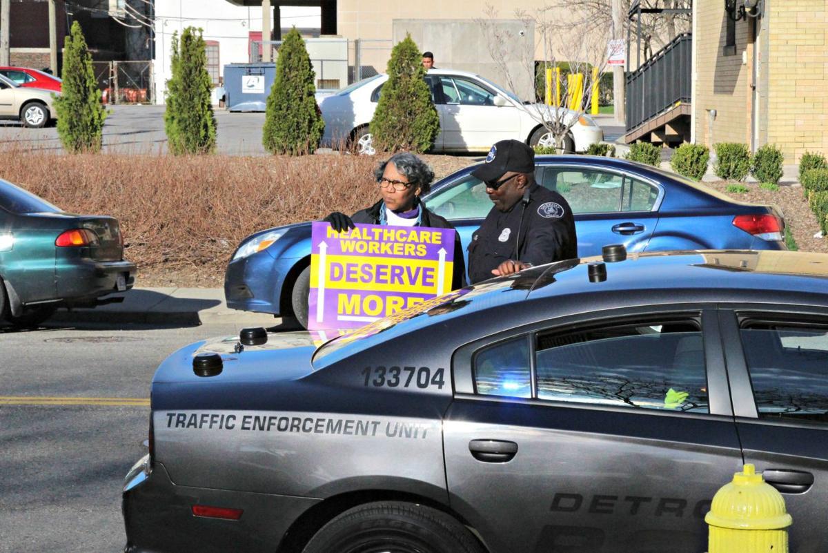 D15 minimum wage protest on campus