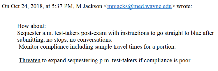 Sequestering email Jackson