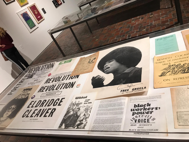 One of the tables of musical artifacts during the civil rights era