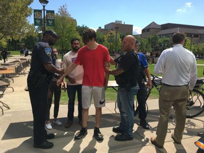 UPDATE: Student Organization Day ends with student being detained by WSUPD