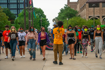 WSU students march against police brutality