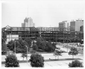Construction shot of the UGL being built.