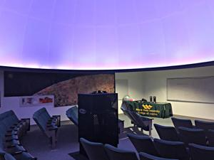 Located in the basement of Old Main, the planetarium showcases the stars through February.