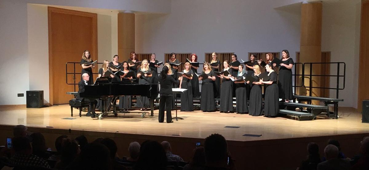 The Women's Chorale performs at the fall showcase on Oct. 16.